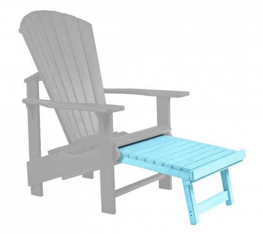 Generations Aqua Upright Adirondack Chair Pull Out Footstool