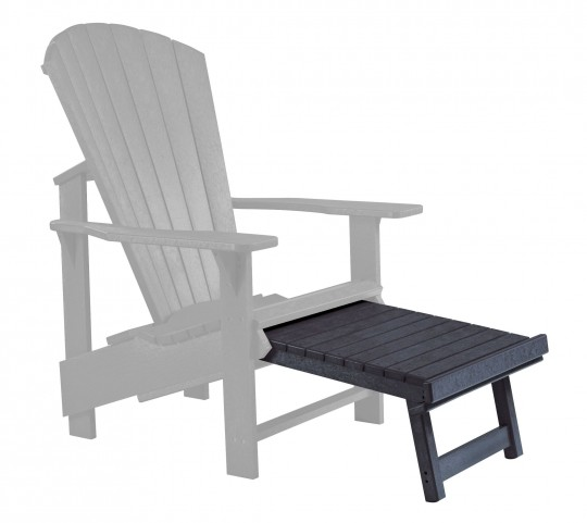 Generations Black Upright Adirondack Chair Pull Out Footstool