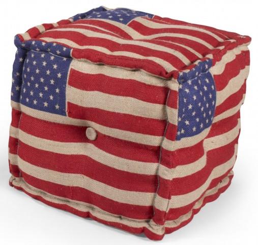 US Flag Pouf