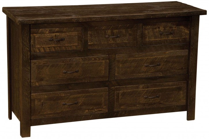 Frontier Barn Brown Premium Seven Drawer Dresser