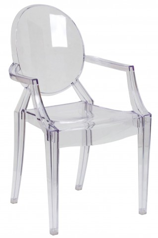 Transparent Crystal Ghost Arm Chair
