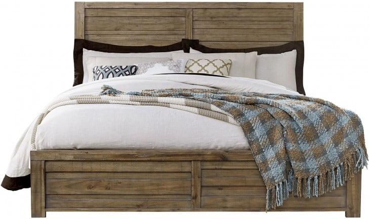 Soho Natural Wood King Panel Bed