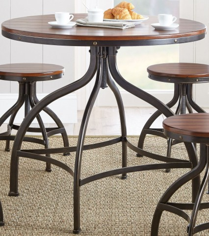 """Fiona 36"""" Round Metal Swivel Dining Table"""