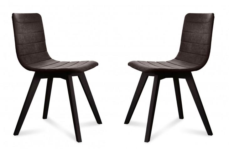 Flexa Flirt Brown Anthracite Frame Ashwood Chair Set of 2