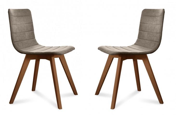 Flexa Flirt Sand Walnut Frame Ashwood Chair Set of 2