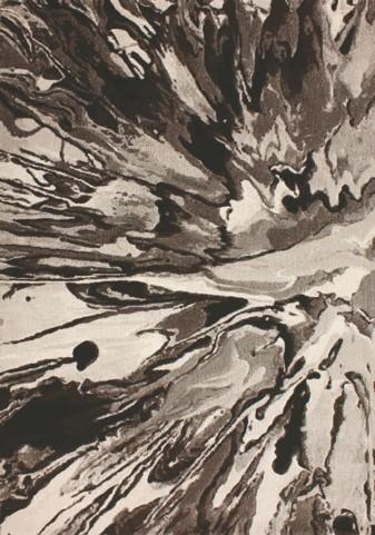 Flint Black/Cream Organic Splatter Medium Rug