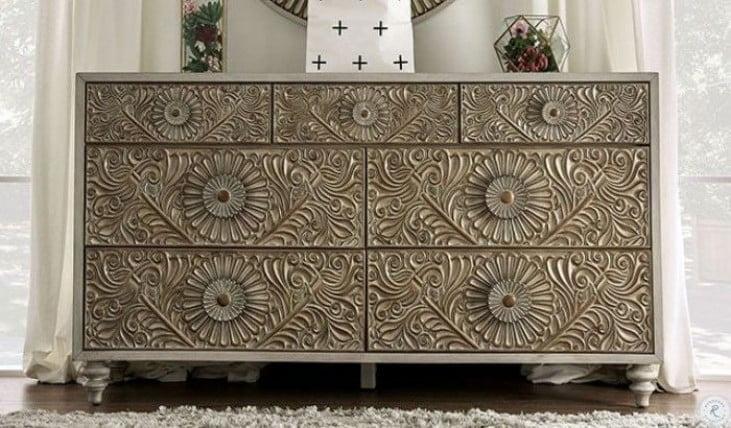 Jakarta Antique White Dresser