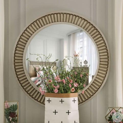 Jakarta Antique White Mirror