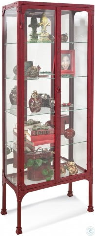 Kildair III Antique Red Accent Cabinet