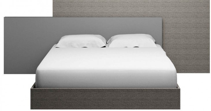 Vivente Matte Grey Forte Cal. King Platform Bed