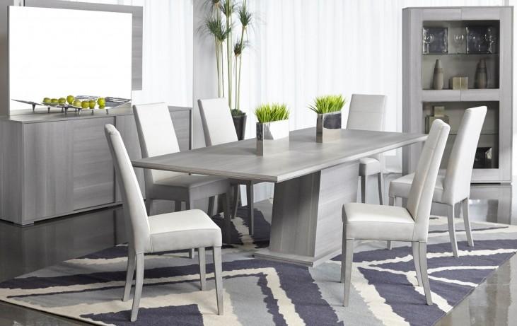 Vivente Matte Grey Forte Extendable Dining Room Set