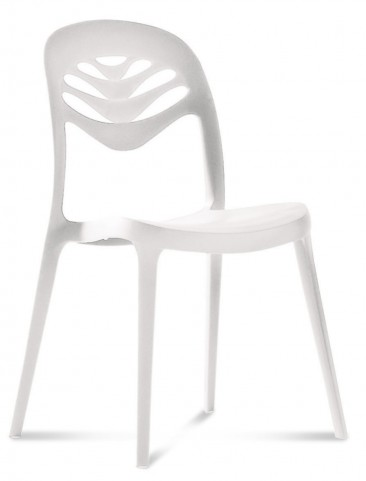ForYou2 White Stacking Chair Set of 4