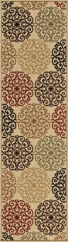 "Four Seasons Catalina Bisque Runner 96"" Rug"