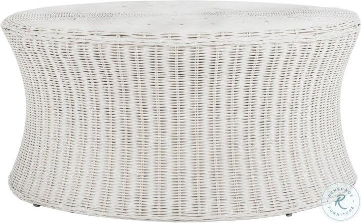Ruxton White Outdoor Cocktail Table