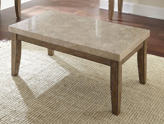 Franco Distressed Driftwood Occasional Table Set