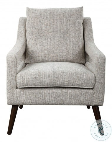 OBrien Linen And Dark Walnut Arm Chair