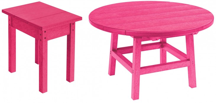 """Generations Fuschia 32"""" Round Occasional Table Set"""