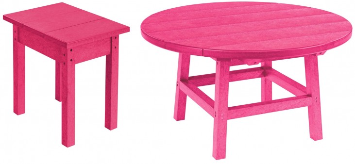 """Generations Fuschia 37"""" Round Occasional Table Set"""