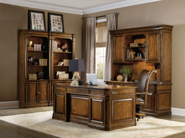 Tynecastle Brown Executive Home Office Set