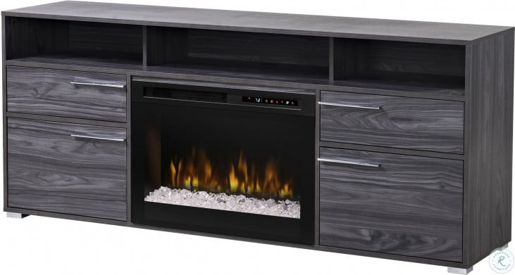 Sander carbon media console electric fireplace with - Going to bed with embers in fireplace ...