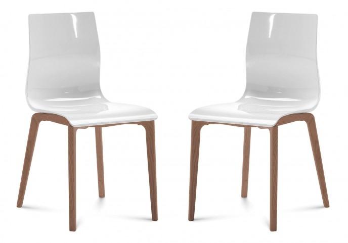 Gel White Walnut Frame Ashwood Chair Set of 2