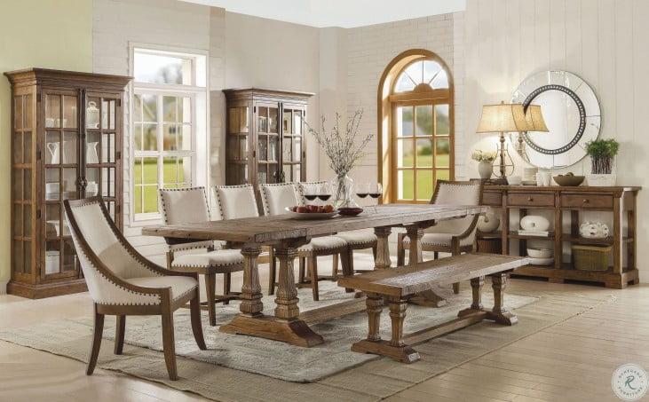 Hawthorne Barnwood Rectangular Extendable Dining Room Set