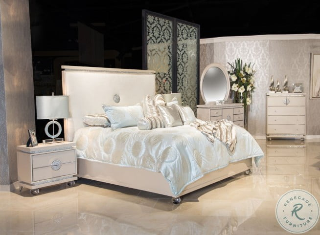Glimmering Heights Ivory Upholstered Dresser