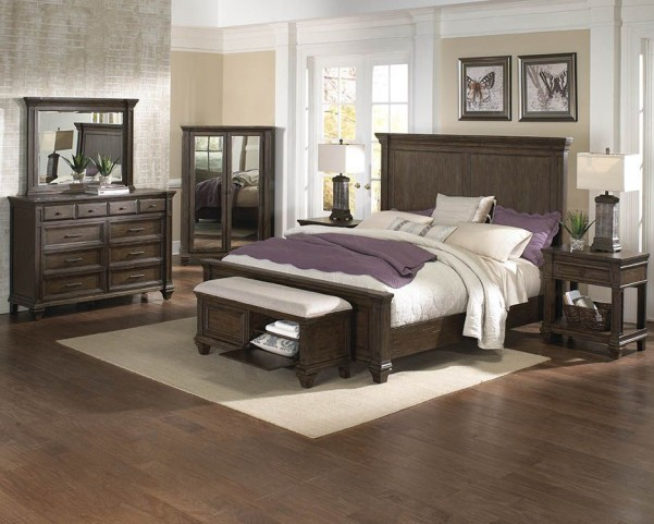 Gallatin Timeworn Mahogany Mansion Bedroom Set