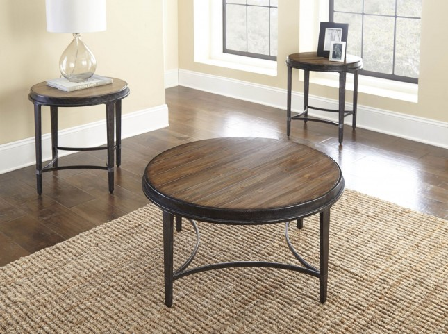 Gianna Antiqued Tobacco Occasional Table