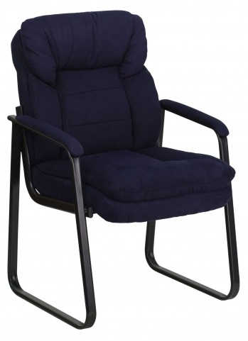 1000913 Navy Executive Sled Base Side Chair