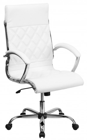 High Back Designer Executive White Office Chair
