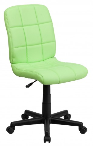 Green Quilted Task Chair