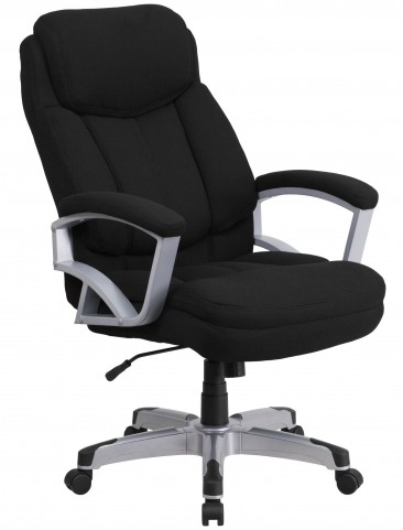 HERCULES Big & Tall Black Fabric Executive Office Chair