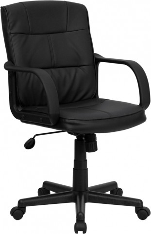 Eco-Friendly Black Office Chair with Nylon Arms