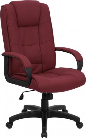 1000943 High Back Burgundy Fabric Executive Office Chair