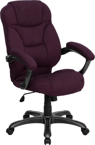 High Back Grape Upholstered Contemporary Office Chair