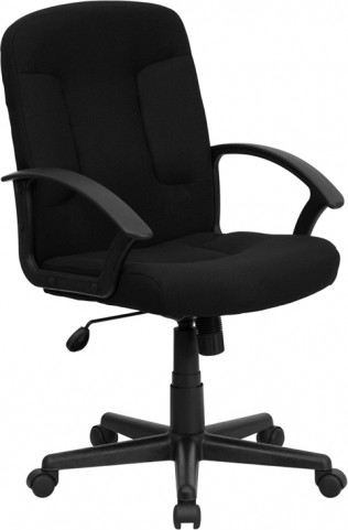 Black Task and Computer Chair with Nylon Arms