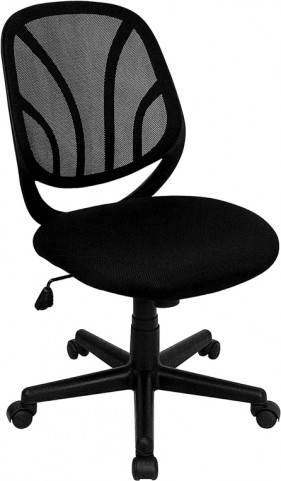 Black Mid-Back Computer Task Chair