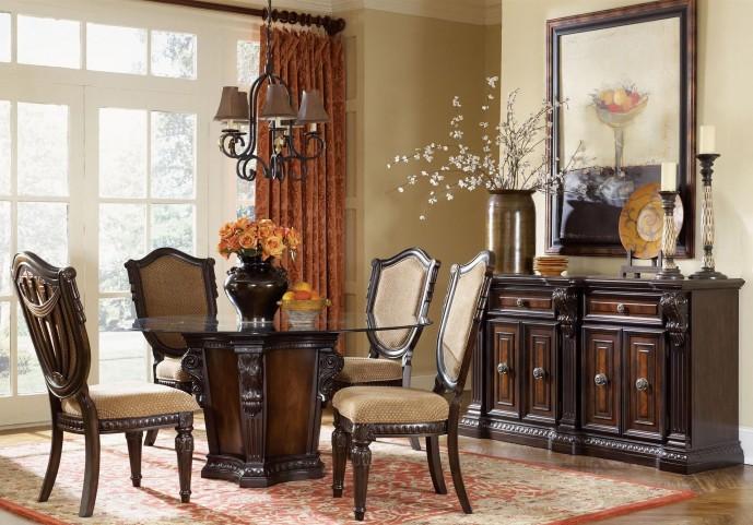 "Grand Estates Cinnamon 60"" Round Dining Room Set"