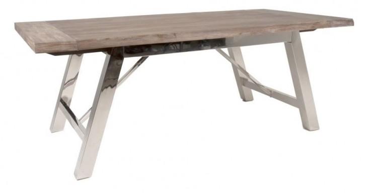 Grayson Gray Wash Rectangular Extendable Trestle Dining Table