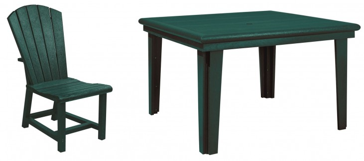 """Generations Green 46"""" Square Dining Room Set"""