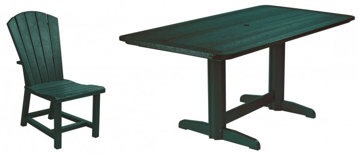 """Generations Green 36"""" Double Pedestal Dining Room Set"""
