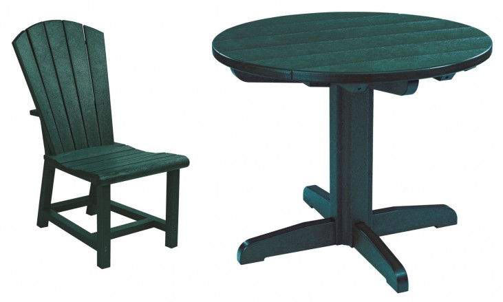 "Generations Green 32"" Round Pedestal Dining Room Set"