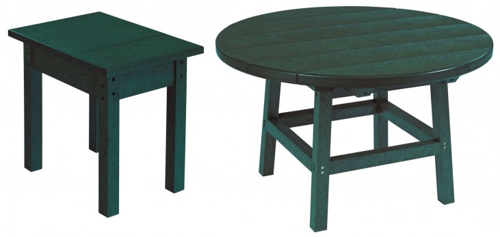 "Generations Green 32"" Round Occasional Table Set"
