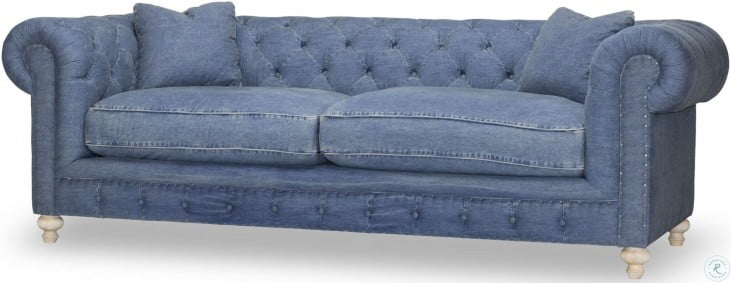 Greenwich Desi Blue Denim Sofa