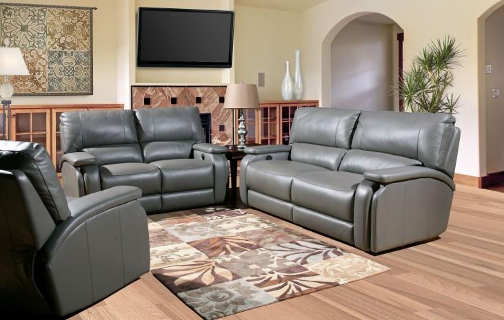 Grisham Heron Dual Power Reclining Living Room Set