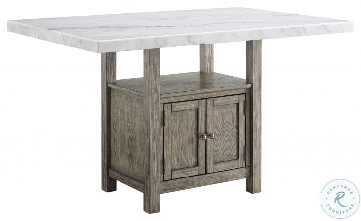 Grayson White And Driftwood Counter Height Dining Table From Steve Silver Coleman Furniture