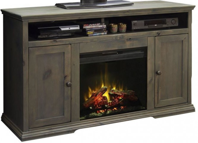 Greyson 59 Quot Brown Fireplace Console From Legends Furniture