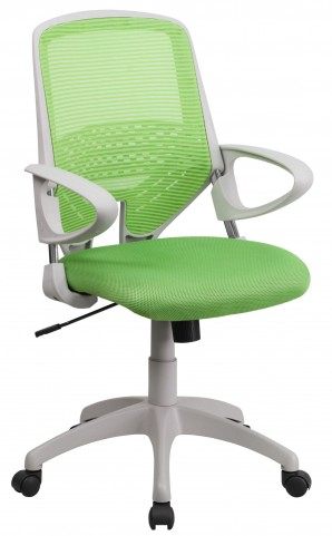 Mid-Back Green Office Chair