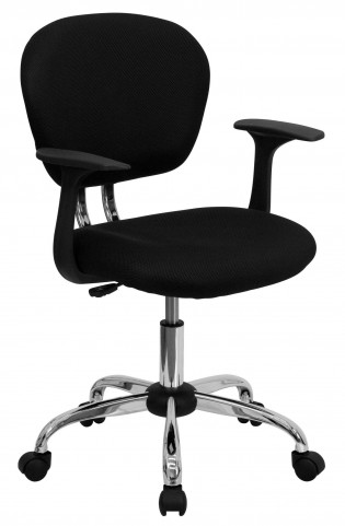 Mid-Back Black Arm Task Chair
